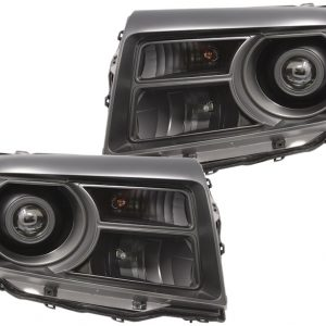 12-15 Honda Pilot Black LED Projector Headlights