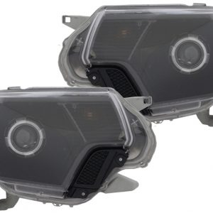 2005-2011 Toyota Tacoma Black LED Halo Projector Headlights