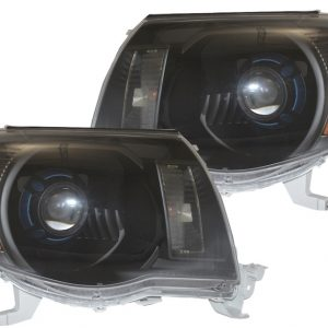 2005-2011 Toyota Tacoma Black Projector Headlights