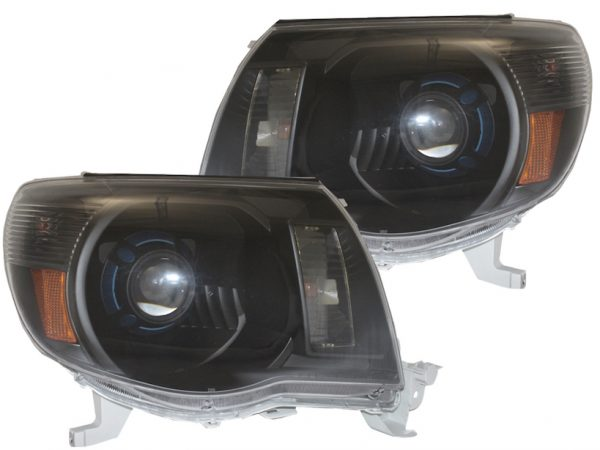 2005-2011 Toyota Tacoma Black Projector Headlights