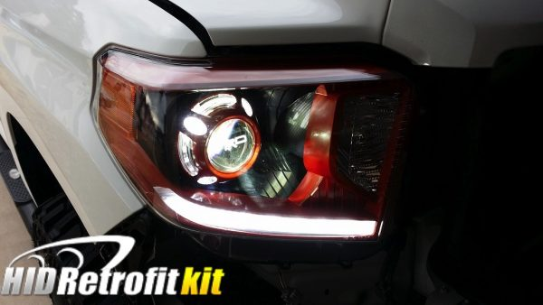 2014-2018 Toyota Tundra Inferno Red LED Headlights with Projectors
