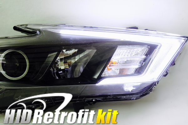 2016 2017 Nissan Maxima HID Retrofit Custom Bixenon High and Low Beam LED Headlights Halo rgb strips
