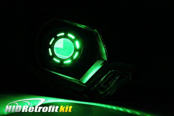 2012-2015 Toyota Tacoma Custom HID Bi-xenon Retrofit Headlights with RGB Led Halos