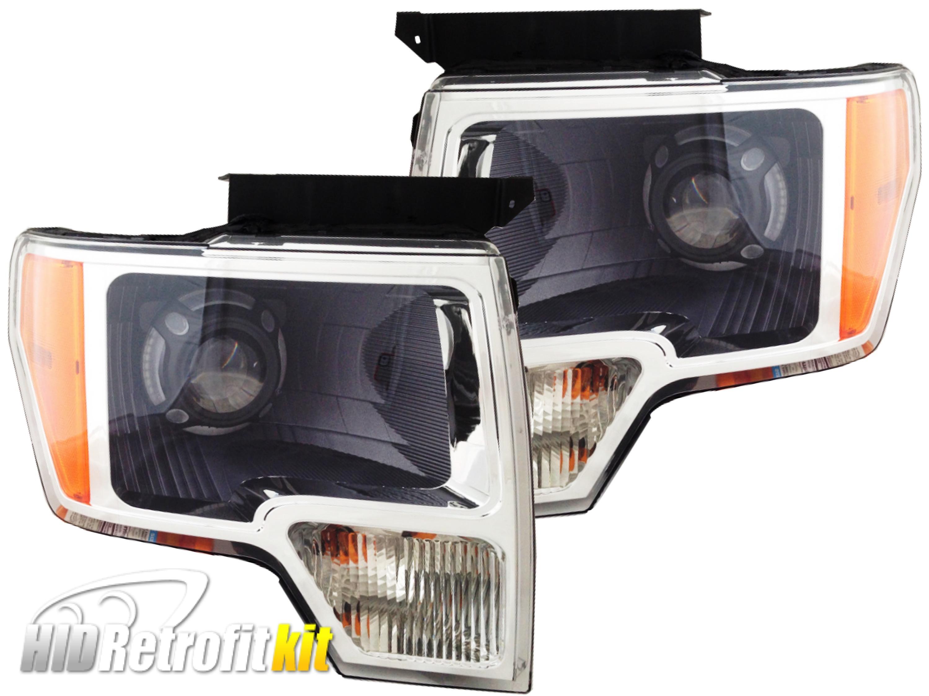 Ford F 150 F150 Custom Bi Xenon HID Retrofit LED Panamera Headlights