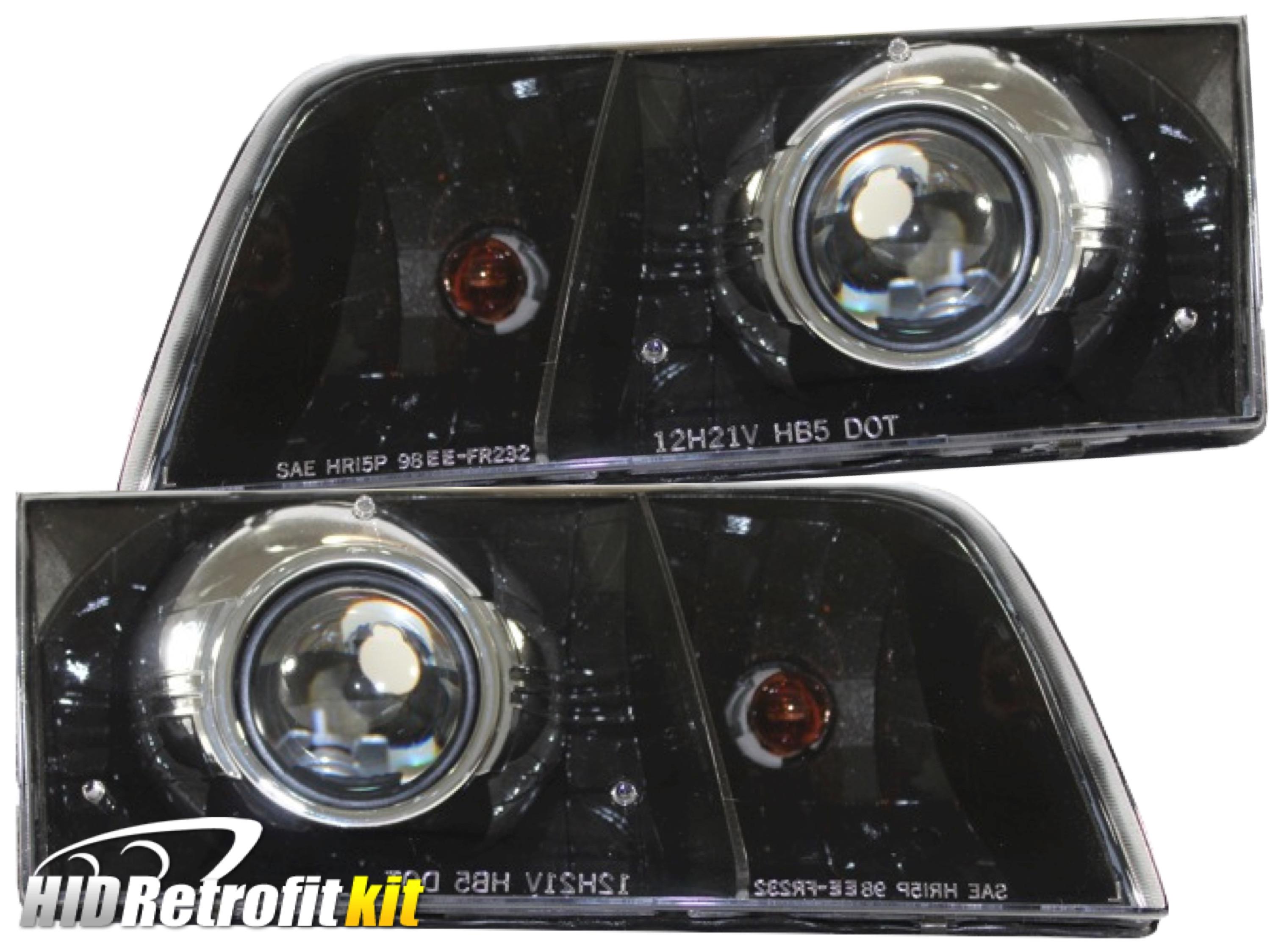 Ford crown victoria custom bi xenon hid retrofit headlights