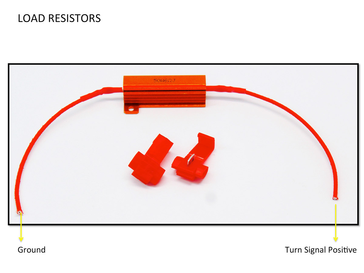 Load resistors installation diagram guide for turn signals led lights