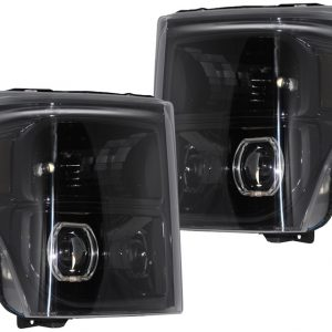 2011-2016 Ford F-250 F-350 Black HID Retrofit Headlights