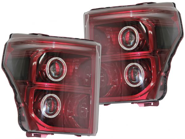 2011-2016 Ford F-250 F-350 Ruby Red Retrofit LED Headlights