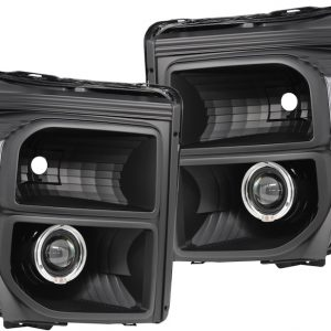 2011-2016 Ford F-250 F-350 Black HID Projector Headlights