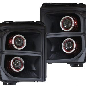 Ford F250 F350 Black Halo Projector Headlights 2011-2016