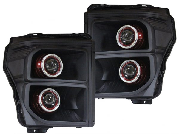Ford F250 F350 Black Halo Projector Headlights 2011-2016