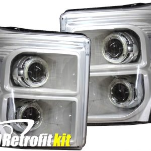 2013-2016 ford f250 f350 f450 f550 custom hid retrofit bi-xenon headlights