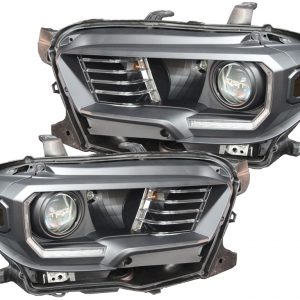 2016-2018 Toyota Tacoma Black LED Projector Headlights