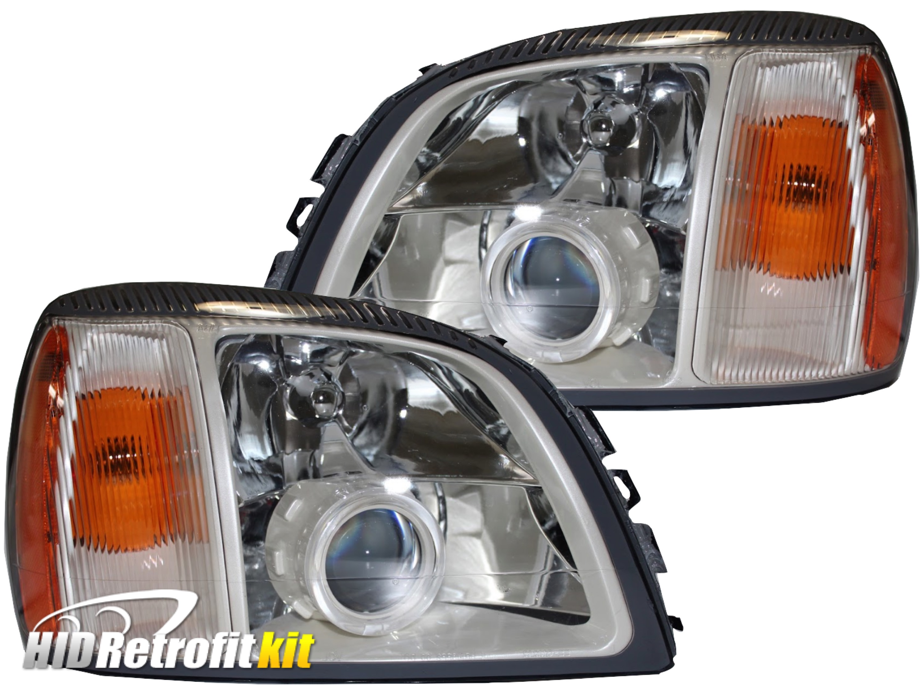 2000 2001 2002 2003 2004 2005 Cadillac Deville Custom Bixenon Hid Retrofit Headlights Led Halo Projector Lights High And Low Beam