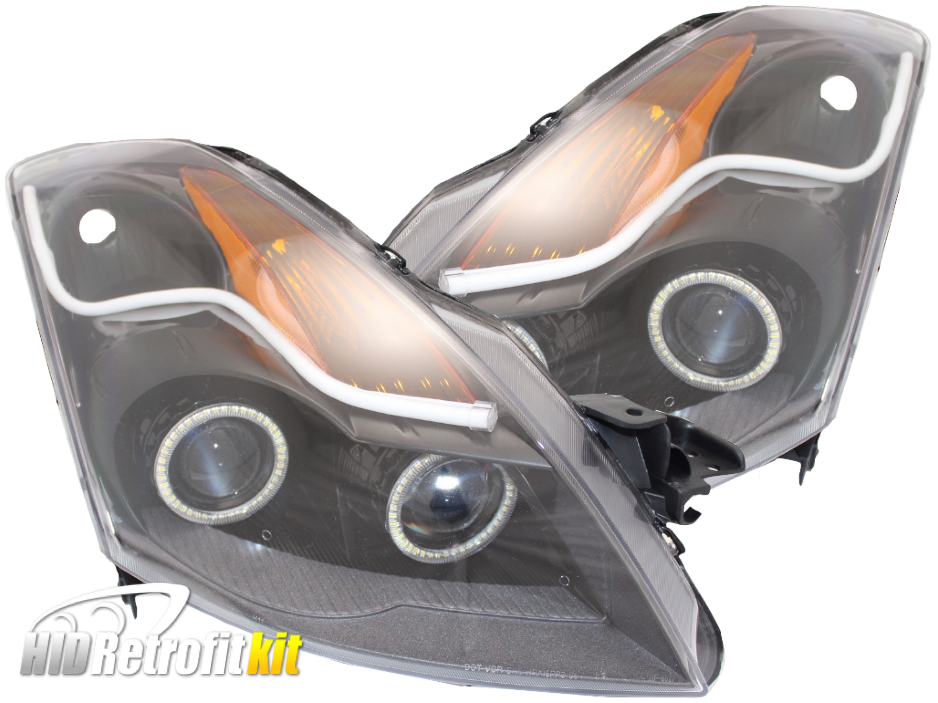 2007 2009 nissan altima sedan hid bi xenon projector headlights 2007 2009 nissan altima sedan hid bi xenon projector headlights with zorro led strips vanachro Image collections
