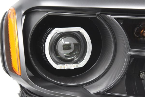 12-15 Honda Pilot LED Projector Black Headlights