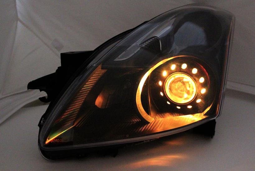 2010 2012 Nissan Altima Sedan Led Rgb Halo Headlights