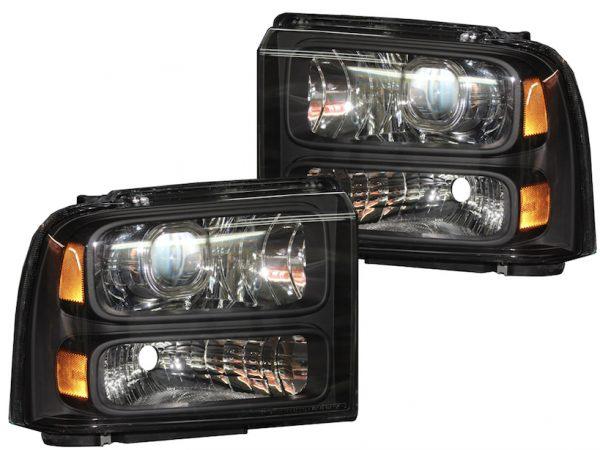 2005-2007 Ford F250 Harley Davidson Retrofit Projector Headlights