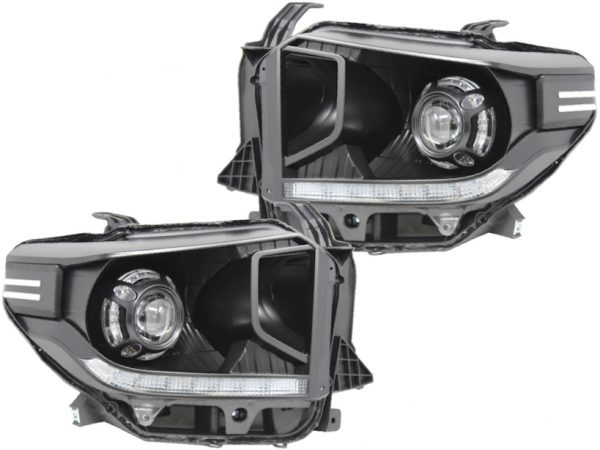 2014-18 Toyota Tundra Black Led Projector Headlights
