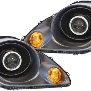 2000-2003 Toyota MR2 Spyder Black LED Halo Projector Headlights
