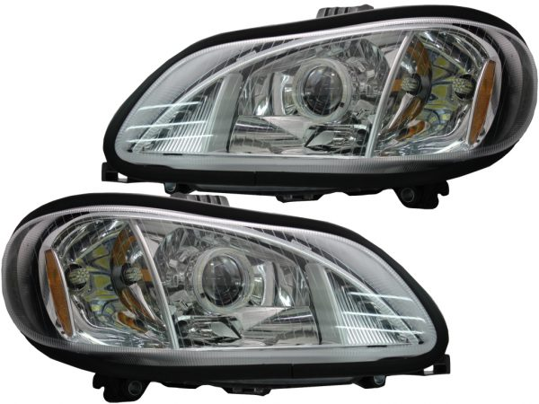 2002-2016 Freightliner M2 Business Class Projector LED Headlights