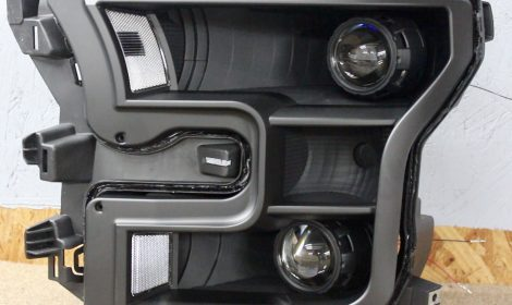 2015-2017 Ford F-150 Quad Matte Black Projector Headlights