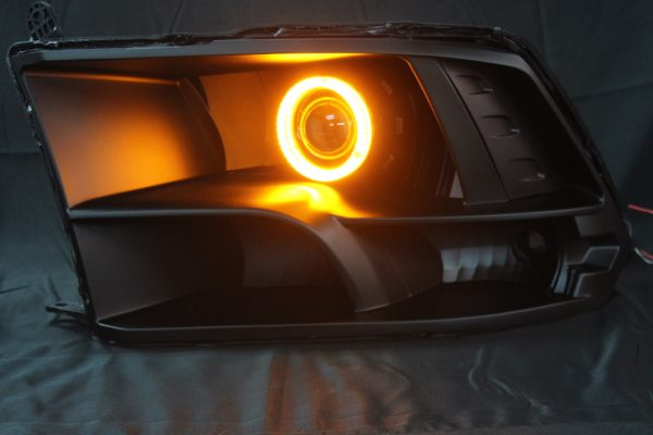 2009-2018 Dodge RAM Black LED Halo Projector HID Headlights