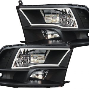 2009-2017 Dodge RAM 1500 2500 3500 Black LED Halo Headlights