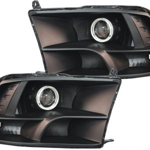2009-2018 Dodge RAM Black LED Halo Projector HID Headlights