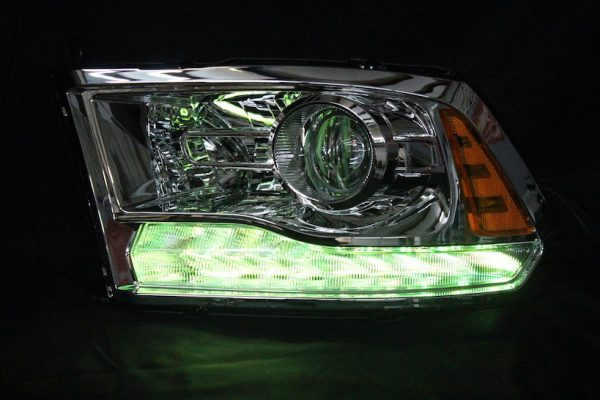2013-2017 RAM 1500 Chrome LED Projector Headlights