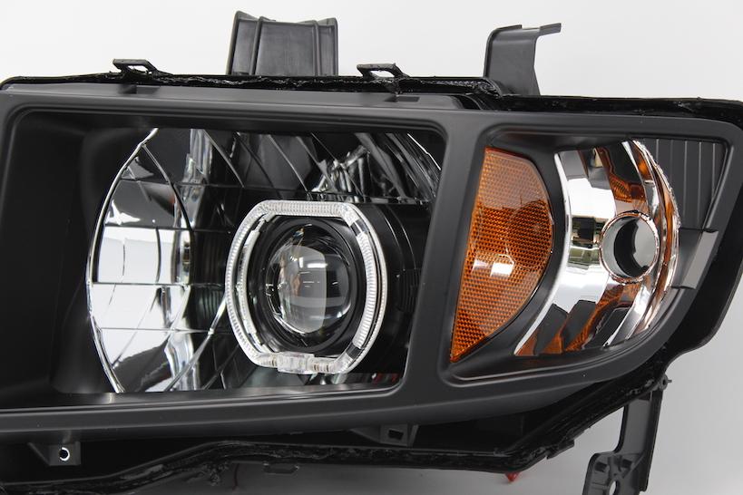 2006 2014 Honda Ridgeline Black Halo Projector Headlights