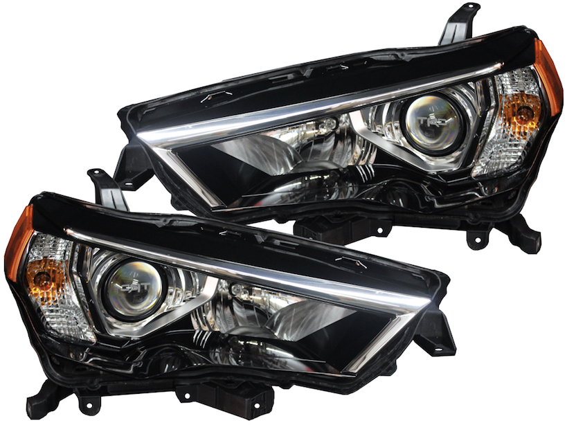 2014 2018 Toyota 4runner Led Bi Xenon Projector Headlights