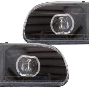 2000-2004 Toyota Tundra Black Halo Projector Headlights