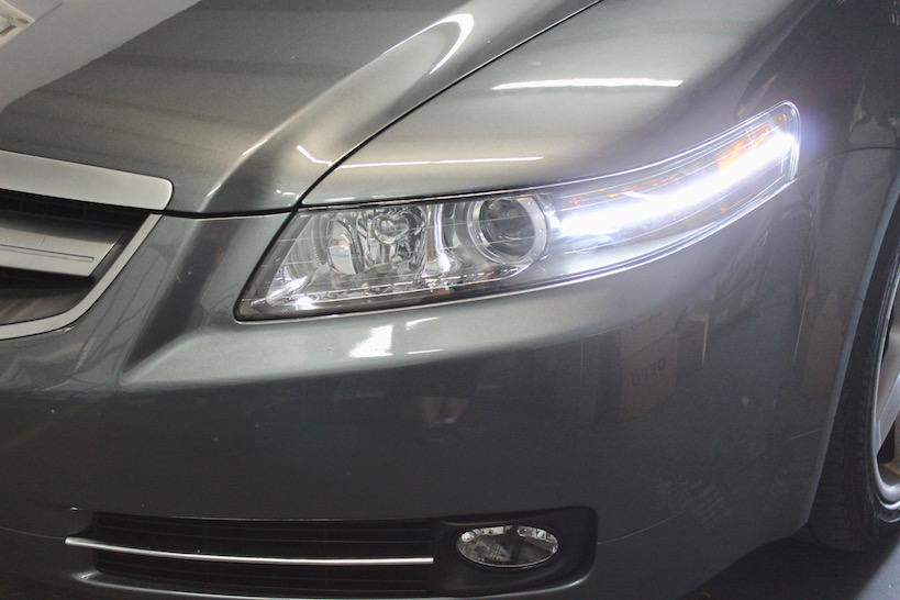 Acura TL Super Bright Switchback LED Strip Headlight - Acura tl aftermarket headlights