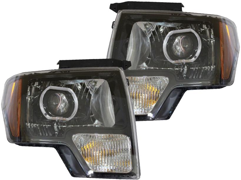 2014 F150 Headlights >> 2009 2014 Ford F 150 Projector Led Headlights