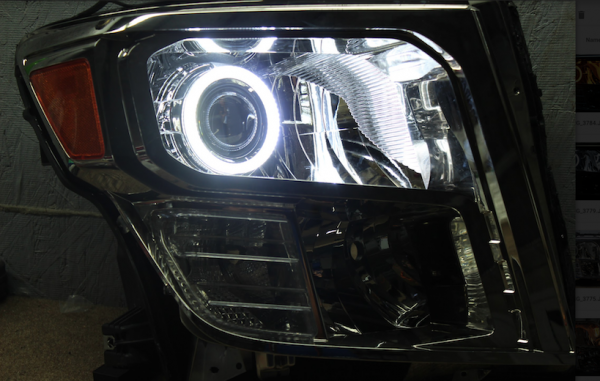 16-18 Nissan Titan Halo Projector Headlights
