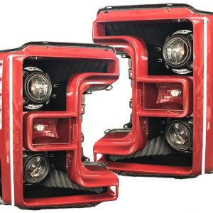 17-18 Ford F-250 SuperDuty Quad LED Projector Headlights
