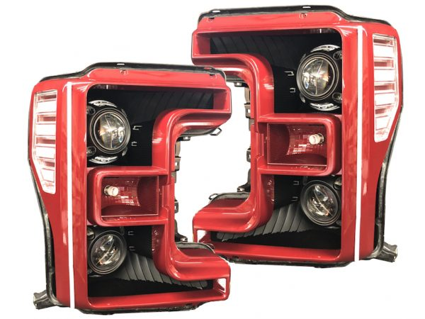 17-18 Ford F-250 SuperDuty Quad LED Projector Headlights
