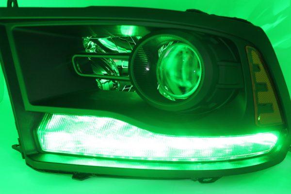 2013-2017 RAM 1500 Black Smoked LED Projector Headlights