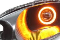 1999-2000 Mazda Miata Black Halo Projector Headlights
