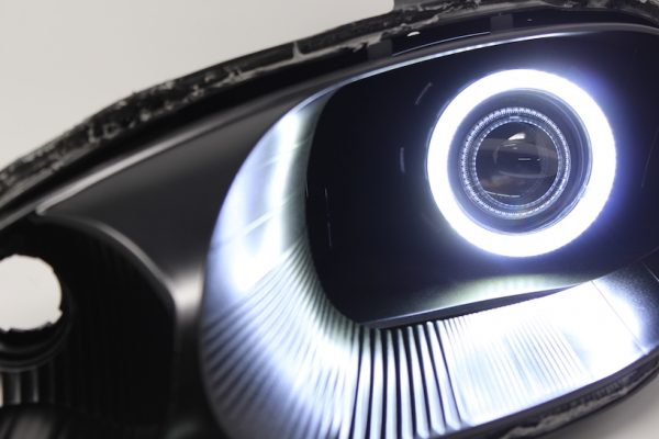 1999-2000 Mazda Miata Black Halo Projector Headlights