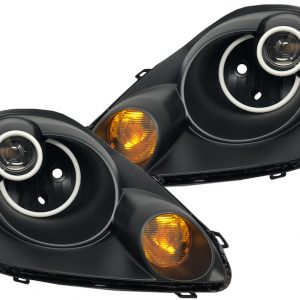 2003-2005 Toyota MR2 Spyder Black Halo LED Projector Headlights