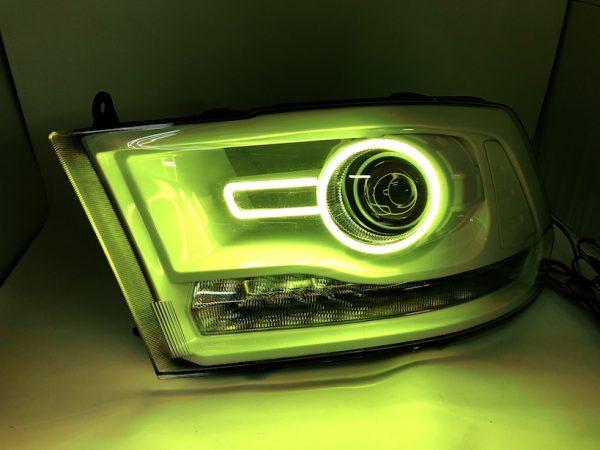 Custom Retrofit 2013-2018 RAM 1500 LED RGB Halo Projector Headlights