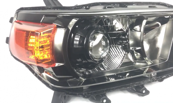 2010-2013 Toyota 4Runner Black LED Projector Headlights