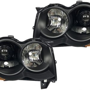 2005-2010 Jeep Grand Cherokee HID Black Projector Headlights