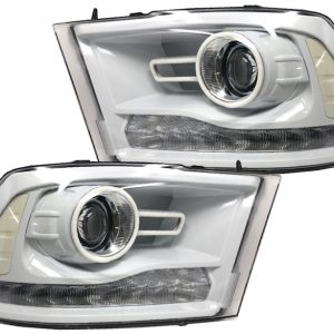 Custom Retrofit 2013-2018 RAM 1500 LED RGB Halo Projector Headlights