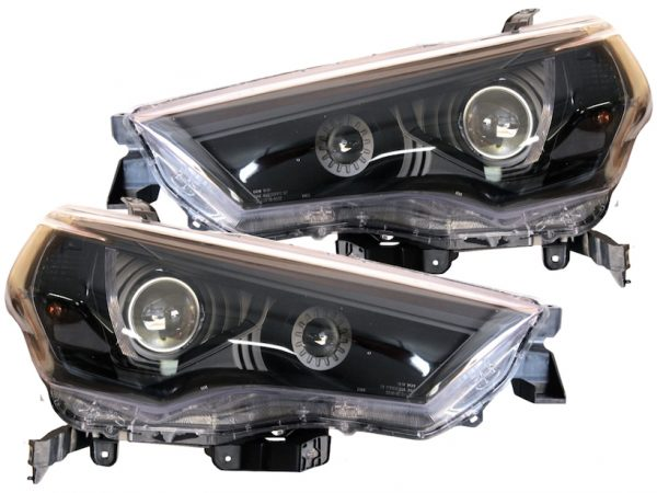 2014-2018 Toyota 4Runner Black Headlight Projector Lights