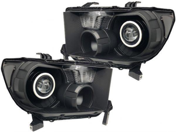 2007-2013 Toyota Tundra 2008-2017 Sequoia Black RGB Halo Projector Headlights