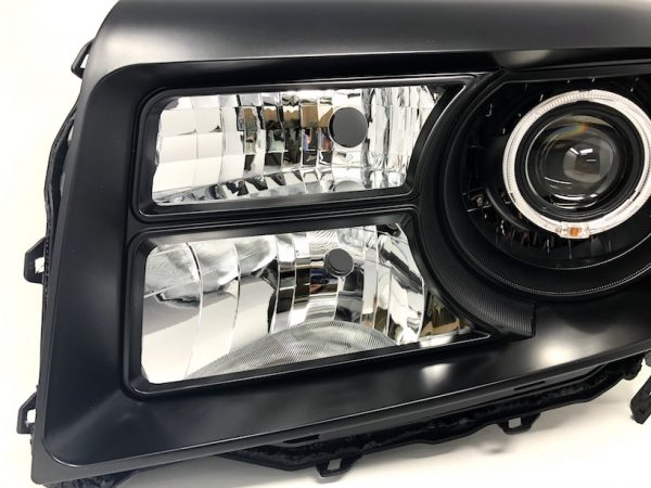 2012+ Honda Pilot Black Headlights Switchback Led Halo Lamps