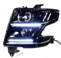 2015-2018 Chevrolet Tahoe Custom Black LED Projector Headlights